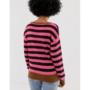 Blend She Cicia stripe wool blend jumper-Pink  - 24958995269 - Size: Large