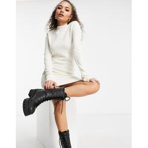 Brave Soul military jumper dress in cream-White  - White - Size: Medium