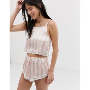 Brave Soul sally pink stripe short set  - 23777667879 - Size: Medium