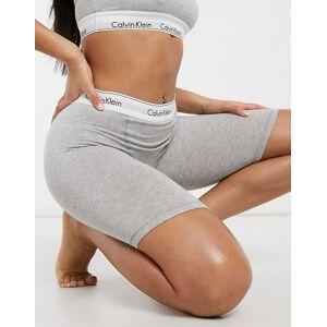 Calvin Klein Modern Cotton logo elastic detail shorts in grey  - Grey - Size: Large