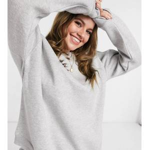 Chelsea Peers Curve corganic cotton heavy wieght lounge sweat in grey marl  - Grey - Size: 18