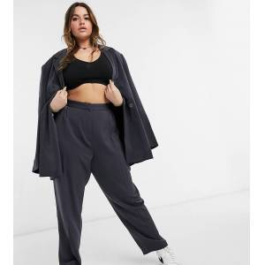 COLLUSION Plus balloon leg trousers in charcoal-Grey  - Grey - Size: 18