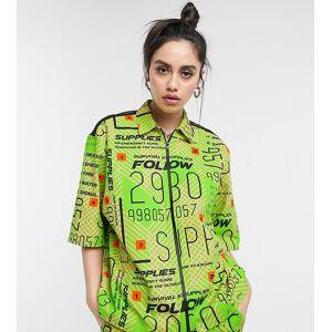 COLLUSION short sleeved printed shirt-Green  - 25667208685 - Size: Medium