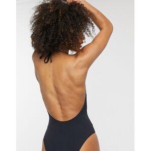 Dorina St Bart's plunge swimsuit in black  - Black - Size: 18