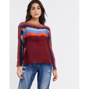 Free People See The Rainbow jumper-Pink  - Pink - Size: Large