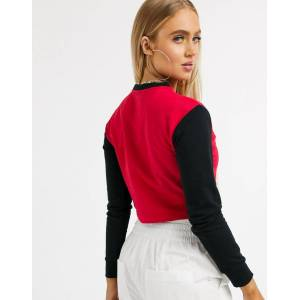 Kappa colour block sweater-Red  - Red - Size: Large