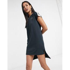 Kappa dip hem dress in black  - Black - Size: Large