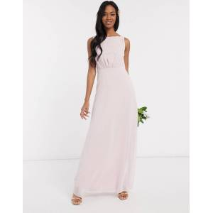 Maids to Measure bridesmaid cowl back chiffon dress-Pink  - Pink - Size: 10
