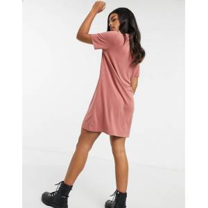 Monki Abbie super soft mini dress in red  - Red - Size: Large