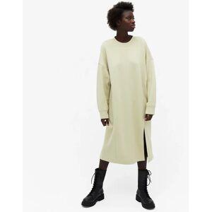 Monki Coba organic cotton sweat midi dress in green  - Green - Size: Large