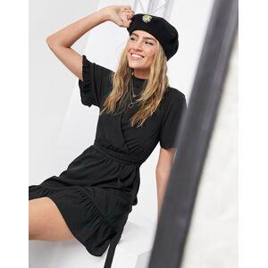 New Look frill sleeve mini dress in black  - Black - Size: 18