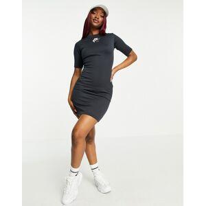 Nike Air bodyson dress in black rib  - Black - Size: Large