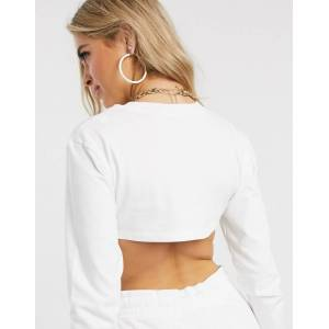 Nike Air long sleeve white Super crop top  - White - Size: 2X-Large
