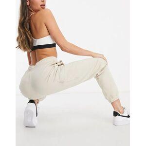 Nike cargo pocket joggers in oatmeal-Cream  - Cream - Size: Medium