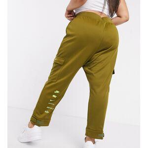 Nike Plus swoosh cargo pocket joggers in khaki green  - Green - Size: 3X-Large