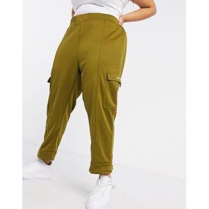 Nike Plus swoosh cargo pocket joggers in khaki green  - Green - Size: 2X-Large