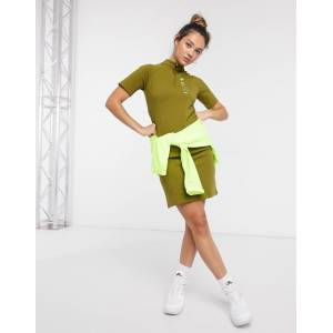 Nike swoosh high neck dress in khaki green  - Green - Size: 2X-Large