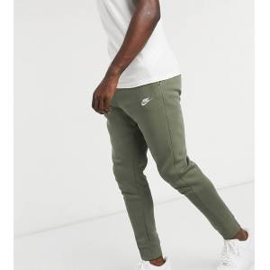Nike Tall Club cuffed joggers in khaki-Green  - Green - Size: 2X-Large