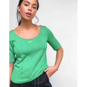 Nike tech pack short sleeve premium panelled top in green  - Green - Size: Extra Large