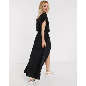 Noisy May layered jumpsuit in black  - Black - Size: Large