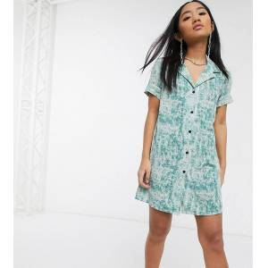 Noisy May Petite mini shirt dress in green tie dye-Multi  - 26228195387 - Size: Medium
