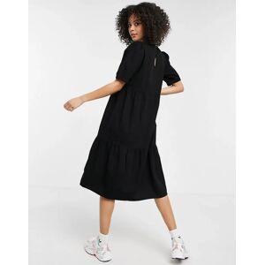 Noisy May Tall denim midi smock dress in black  - Black - Size: 2X-Large