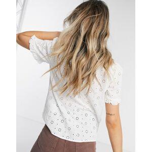 Pieces Calonda high neck blouse in cream  - Cream - Size: Medium