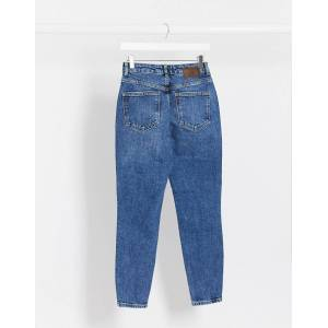 Pieces cara high waisted skinny jeans in blue  - Blue - Size: Medium