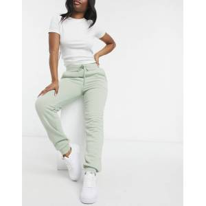 Pieces cuffed joggers in sage-Green  - Green - Size: Medium