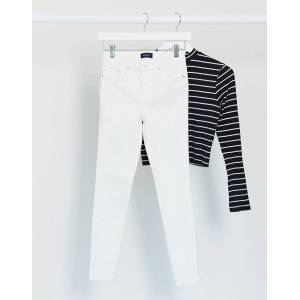 Pieces delly high waisted skinny jeans in white  - White - Size: Extra Large