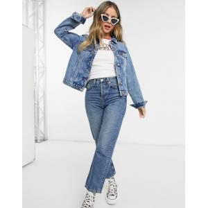 Pieces denim jacket in blue  - Blue - Size: Extra Large