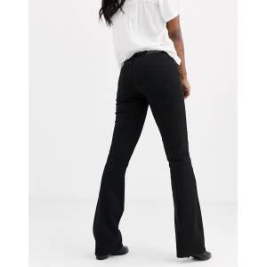 Pieces flared jeans in black  - Black - Size: Extra Small