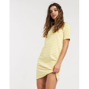 Pieces Ingrid short sleeve stripe jersey midi dress-Multi  - Multi - Size: Extra Small