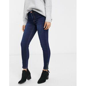 Pieces Jamie high waist ankle grazer skinny jeans-Blue  - Blue - Size: Large