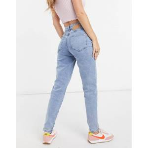 Pieces Kesia slim mom jean in light blue  - Blue - Size: Medium