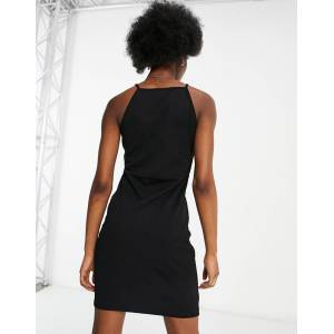 Pieces Madalene bodycon dress in black  - Black - Size: Medium