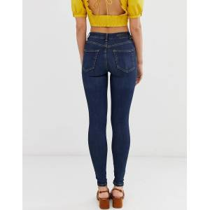 Pieces mid waist shape up skinny jeans-Blue  - Blue - Size: Extra Small