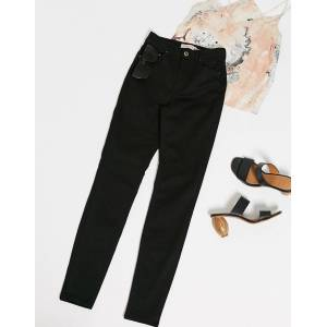 Pieces nora high waisted skinny jeans in black  - Black - Size: Extra Large