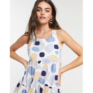 Pieces polka dot dress with tie back-Multi  - Multi - Size: Medium