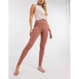 Pieces seamless lounge legging in rust-Tan  - Tan - Size: Medium