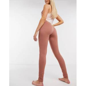 Pieces seamless lounge legging in rust-Tan  - Tan - Size: Large