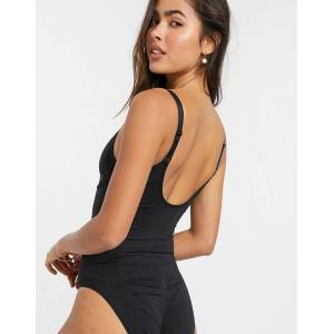 Pieces shaping bodysuit in black  - Black - Size: Large