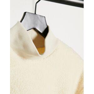 Pieces teddy sweatshirt in cream  - Cream - Size: Large