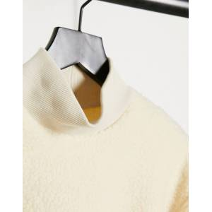 Pieces teddy sweatshirt in cream  - Cream - Size: Small