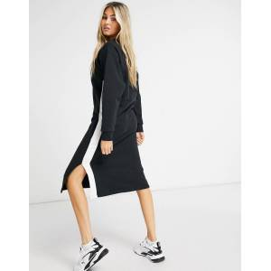 Puma Classic long sleeve dress in black  - Black - Size: Large
