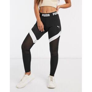 Puma mesh leggings in black  - Black - Size: Medium