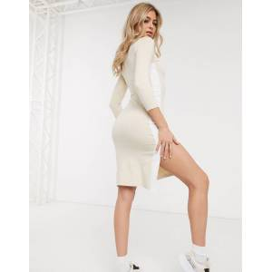 Puma Midi Dress with Side Split in cream exclusive to ASOS-White  - White - Size: Large