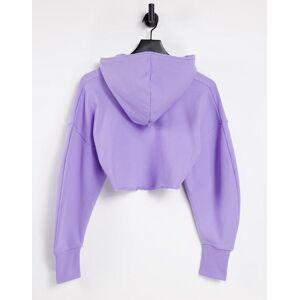 Reebok x Cardi B super cropped hoodie in Purple  - Purple - Size: Small