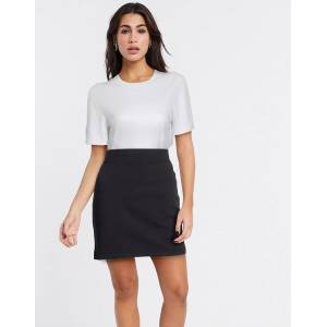 Selected kelly mid waist bodycon skirt in black  - Black - Size: Large