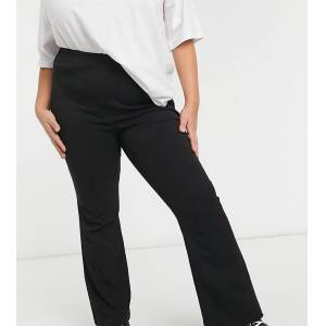 Simply Be flared trouser in black  - Black - Size: 22